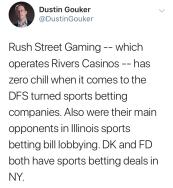 Dustin Gouker Tweet on Rivers