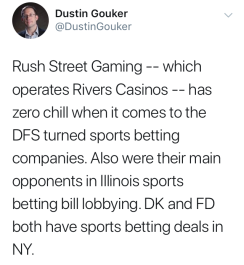 Dustin Gouker Tweet on Rivers