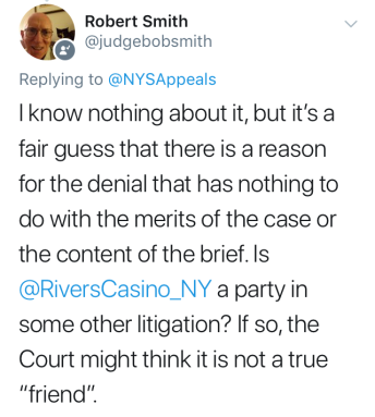 Judge Smith Tweet on Rivers