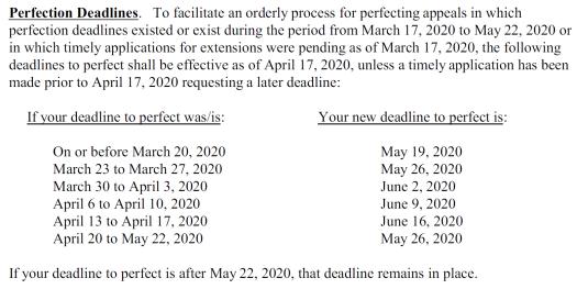 Fourth Department Deadlines